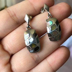 925 Sterling Silver Shell Drop Earrings